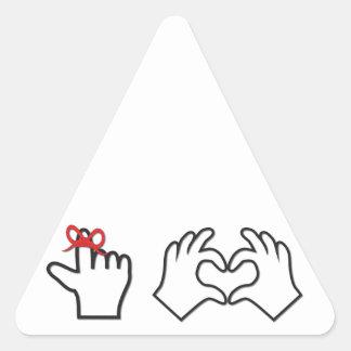 Remember I love you Triangle Sticker