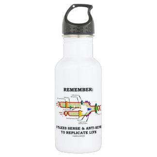 Remember: It Takes Sense Anti-Sense To Replicate 18oz Water Bottle
