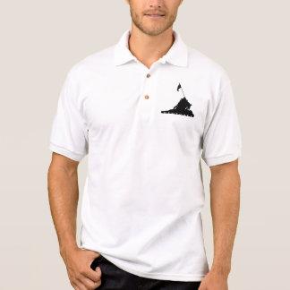 Remember Iwo Jima Silhouette Polo Shirts