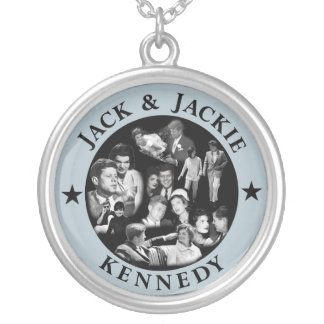 Remember Jack & Jackie Kennedy Round Pendant Necklace
