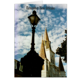 Remember Jackson Square New Orleans Card