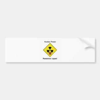 Remember Japan Anti Nuclear Logo Car Bumper Sticker