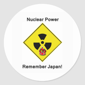 Remember Japan Anti Nuclear Logo Classic Round Sticker
