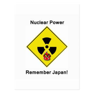 Remember Japan Anti Nuclear Logo Postcard