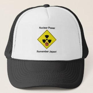 Remember Japan Anti Nuclear Logo Trucker Hat