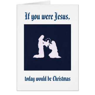 Remember Jesus on your birthday Greeting Card