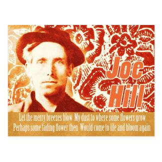Remember Joe Hill CC0803 Flower power collage Postcard