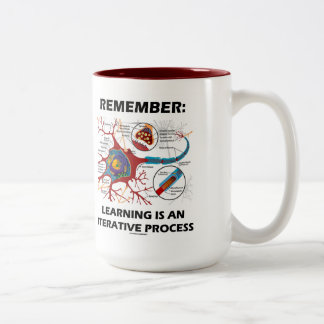 Remember: Learning Is An Iterative Process Synapse Two-Tone Coffee Mug