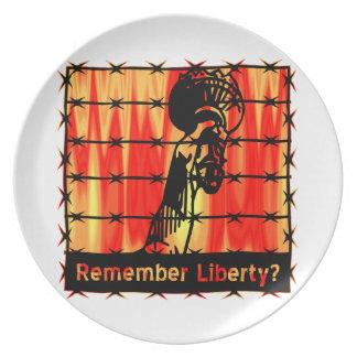 Remember Liberty? Dinner Plate