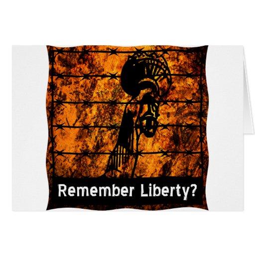 Remember Liberty? Greeting Card
