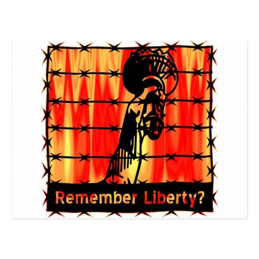 Remember Liberty? Postcard