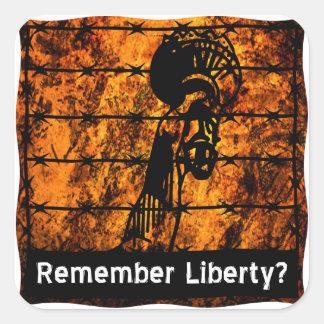Remember Liberty? Square Sticker