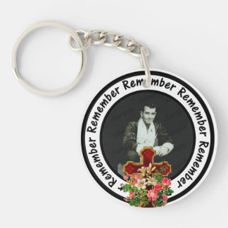 Remember Loved One Frame Circle Add Your Photo Keychain