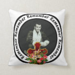Remember Loved One Frame Circle Add Your Photo Throw Pillow