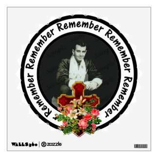 Remember Loved One Frame Circle Add Your Photo Wall Decal