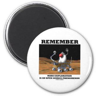 Remember Mars Exploration Open Source Duke Rover Fridge Magnet