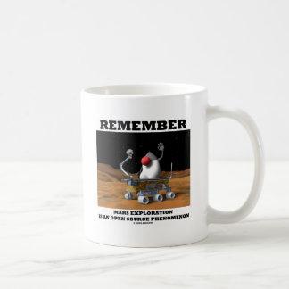 Remember Mars Exploration Open Source Duke Rover Classic White Coffee Mug