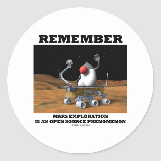 Remember Mars Exploration Open Source Duke Rover Stickers