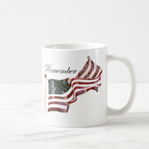 Remember  Memorial Day - Crosses Within Old Glory Coffee Mugs
