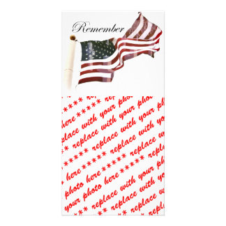 Remember Memorial Day - Crosses Within Old Glory Photo Card