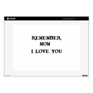 remember mom i love you decal for laptop