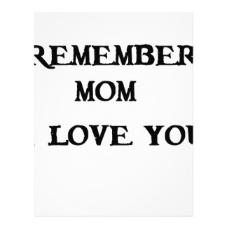 remember mom i love you letterhead