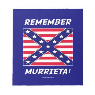 REMEMBER MURRIETA IMMIGRATION MEMO PADS