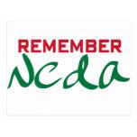 Remember Neda (Iran) Post Card