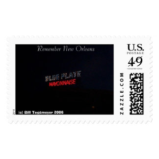 Remember New Orleans Blue Plate Mayo Stamp
