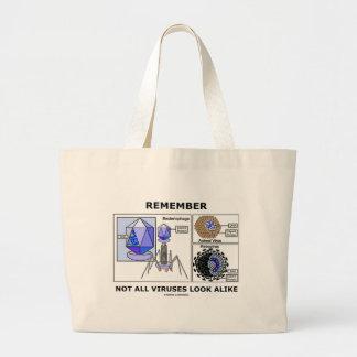 Remember Not All Viruses Look Alike (Virology) Bag