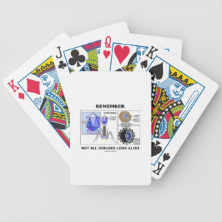 Remember Not All Viruses Look Alike Virology Bicycle Playing Cards
