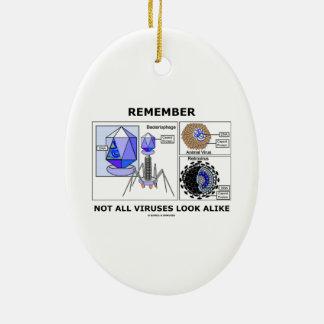 Remember Not All Viruses Look Alike Virology Ceramic Ornament