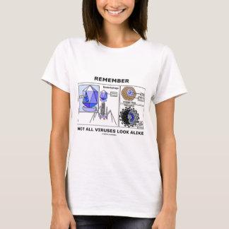 Remember Not All Viruses Look Alike (Virology) T-Shirt