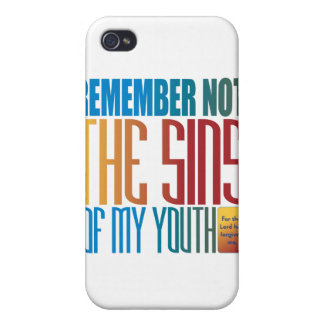 Remember not the sins of my youth iPhone 4/4S cases