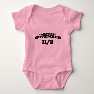 Remember November 11/2 Baby Bodysuit