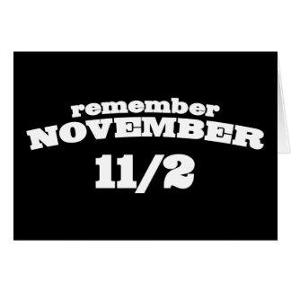 Remember November 11/2 Card