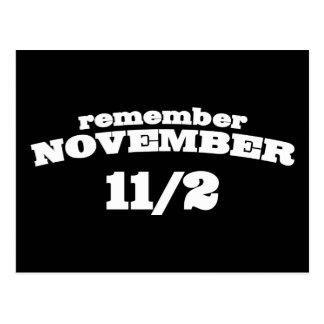 Remember November 11/2 Postcard