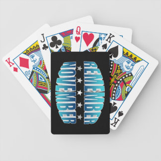Remember November Bicycle Playing Cards