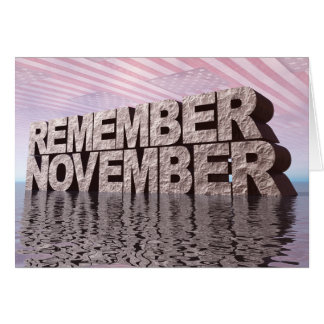 Remember November Card