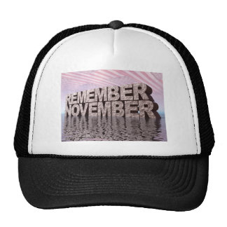 Remember November Hats