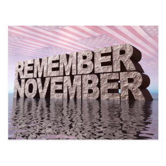 Remember November Postcard