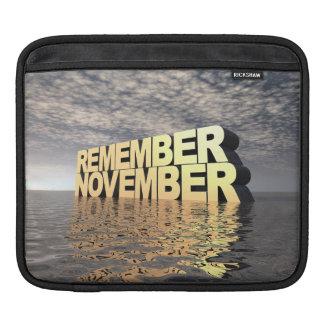 Remember November Sleeve For iPads