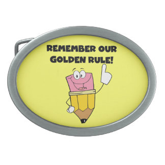 Remember Our Golden Rule Oval Belt Buckle