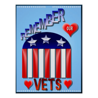 Remember Our Vets Poster