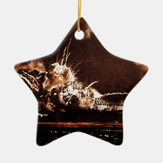 Remember Pear Harbor Ceramic Ornament