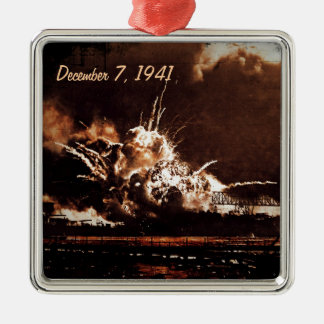 Remember Pear Harbor Metal Ornament