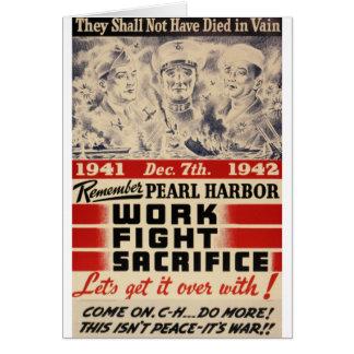 Remember Pearl Harbor Greeting Card