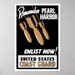 Remember Pearl Harbor Enlist Now -- Coast Guard Poster