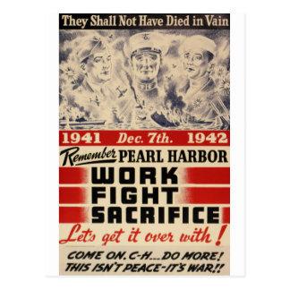 Remember Pearl Harbor Postcard