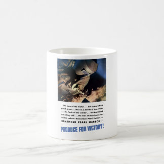 Remember Pearl Harbor! Produce For Victory! Coffee Mug